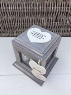 Shabby Chic Rustic Wood Personalised Gift For Bride From Bridesmaid Photo Cube - 332390292257